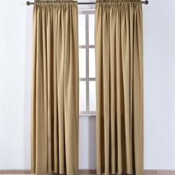 伊美居 - 愛丁堡落地窗簾 130x230cm (2件) 金色