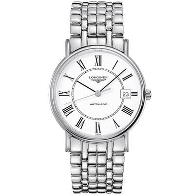 LONGINES 浪琴 時尚系列經典紳士腕錶-銀色/38.5mm