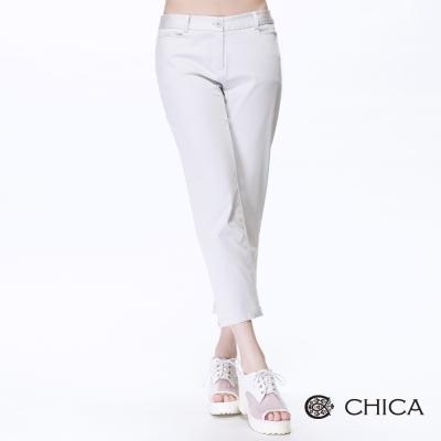CHICA-小開岔八分褲-4色
