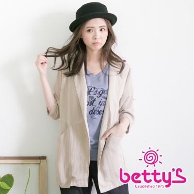 betty's貝蒂思 七分袖西裝大衣(卡其色)