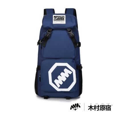 木村原宿MM-CAP袋-日式潮男排扣筆電登山包-無