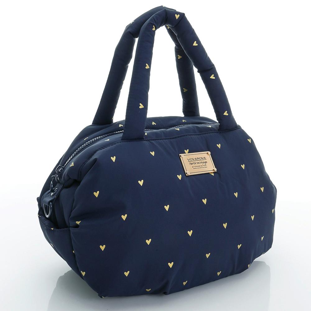 VOVAROVA空氣包-三用肩背托特包-心空閃耀藍