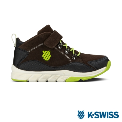 K-Swiss Chukka Trainer VLC運動鞋-深咖啡/黃綠