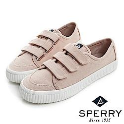 SPERRY 韓版粉彩黏扣帶帆布鞋(女)-乾燥玫瑰