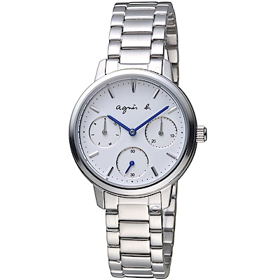 agnes b.非凡焦點時尚腕錶(VD75-KPZ0S BP6019X1)