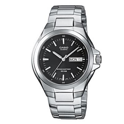 CASIO 經典復古型指針紳士錶(MTP-1228D-1A)-黑