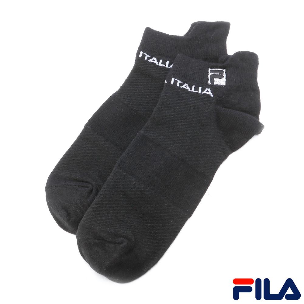 FILA基本款棉質薄底踝襪-黑SCR-1000-BK