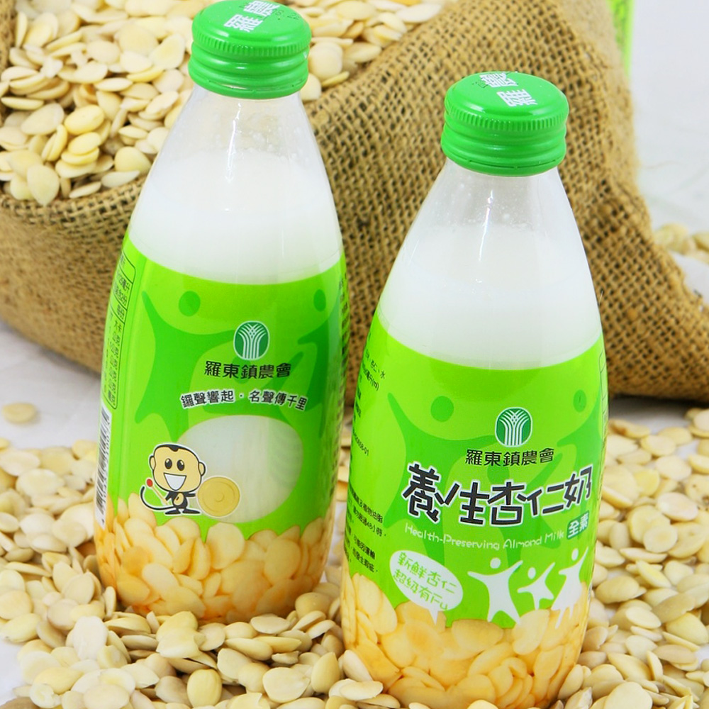 羅東農會 羅董養生杏仁奶24瓶/箱(245ml/瓶)