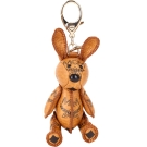 MCM VISETOS 經典圖騰兔子造型吊飾/鑰匙圈(棕色)