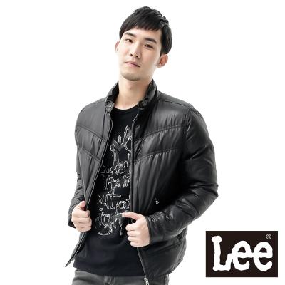 Lee 羽絨外套 立領拉鍊防風-男款(黑)