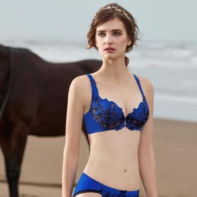 曼黛瑪璉-Marie One 刺繡蕾絲內衣  B-F罩杯(雪夜藍)