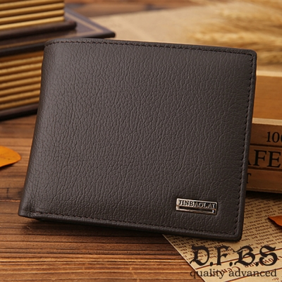 DF BAGSCHOOL皮夾 - 商業職男專屬設計款牛皮短夾-共2色