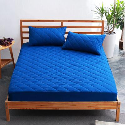 美夢元素 繽紛馬卡龍保潔床墊-單人〈深藍〉