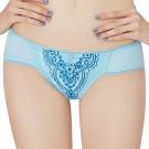 思薇爾 啵時尚花心思系列M-XL蕾絲低腰三角內褲(礦水藍)