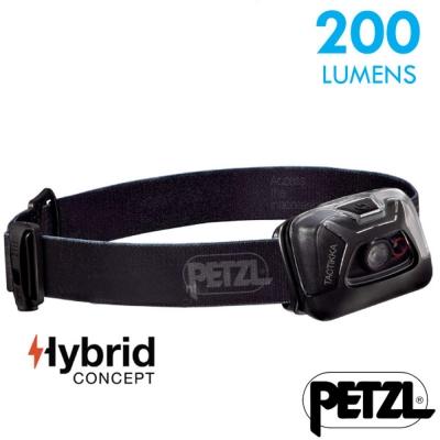 【法國 Petzl】新款 TACTIKKA 超輕量標準頭燈(200流明)_黑