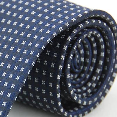 Alpaca 深藍白小點領帶