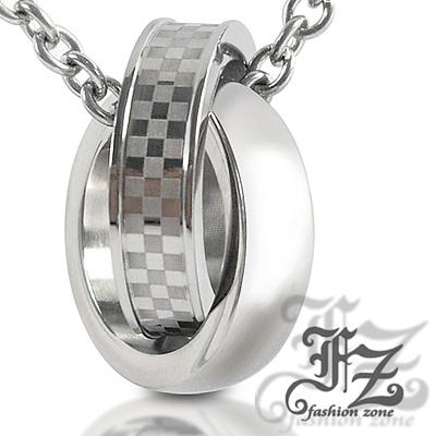 【FZ】環環相扣愛情白鋼項鍊(小款)