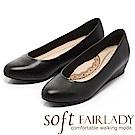 Fair Lady New超級上班者聯盟5號 粉領打造坡跟鞋 黑