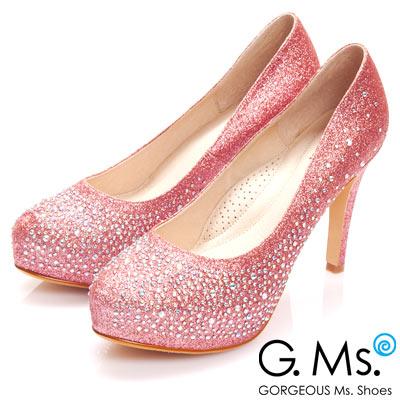 G.Ms.花嫁系列-銀河星鑽厚底細跟鞋-璀璨粉