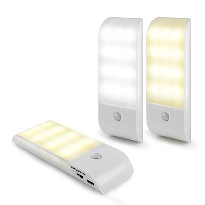 [時時樂限定]aibo USB充電式 迷你智能LED人體感應照明燈(LI-10)