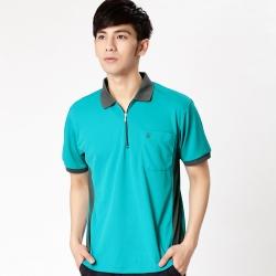 【遊遍天下】MIT台灣製男款抗UV涼爽吸濕排汗機能POLO衫SV037綠
