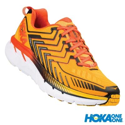 HOKA ONE ONE 跑鞋 Clifton 4 男 路跑 超緩震 紅橘