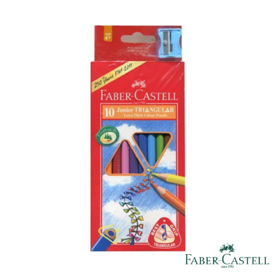 Faber-Castell紅色系大三角彩色鉛筆 3.8 mm 10色
