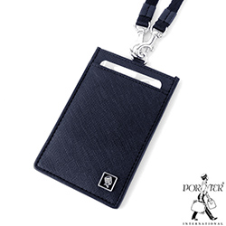 PORTER - 法式時尚BEND掛繩證件套 - 深藍