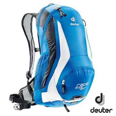 《Deuter》32133 自行車網架背包 12+3L 藍/白