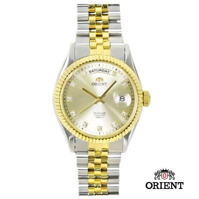ORIENT 東方錶 WILD CALENDAR系列機械錶 金色x銀色-36.5mm