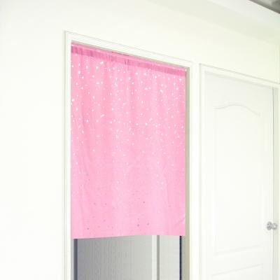 布安於室-銀色星空遮光門簾-粉色-寬 130 x高 150 cm