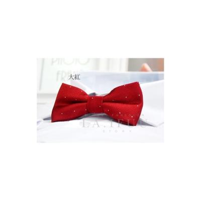 拉福,兒童領結糾糾點點小紳士專用領結(大紅銀絲點點)