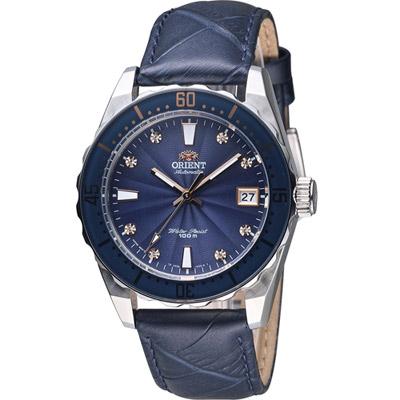 ORIENT 東方錶 SPORT系列 100M潛水機械錶-藍/39mm