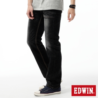 EDWIN-中直筒-BT麂皮西部牛仔褲-男-灰色