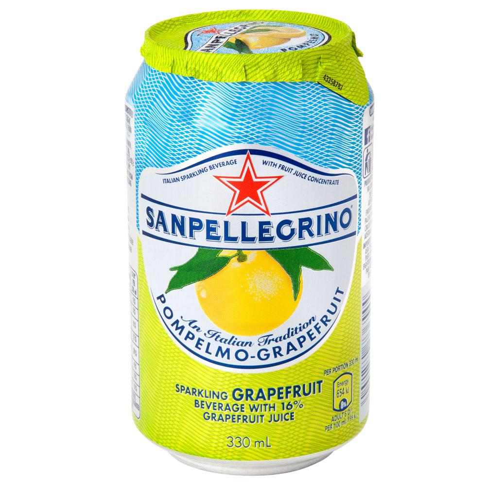 聖沛黎洛 氣泡水果飲料罐裝-葡萄柚(330mlx6入)