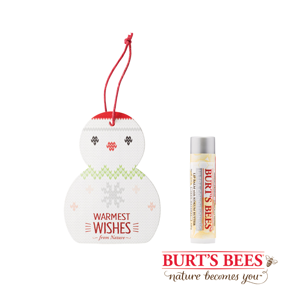 Burt's Bees 雪人超保溼護唇膏組