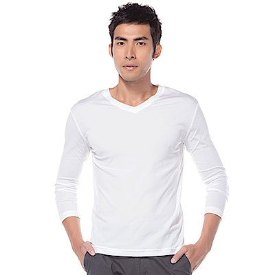 zuzai 自在發熱衣歸真系列男無重力暖搭長袖衣-白色