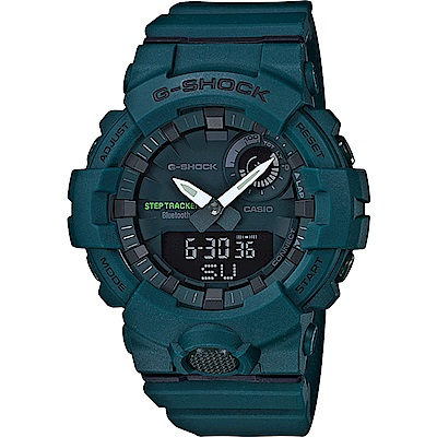 G-SHOCK 卡西歐 藍牙連線跑步紀錄運動錶(GBA-800-3A)-藍綠/48.6mm