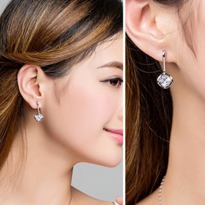 梨花HaNA-S925銀美麗願望大方鑽耳環