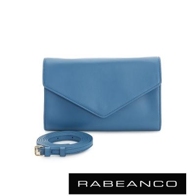 RABEANCO-迷時尚系列牛皮兩用信封包-藍