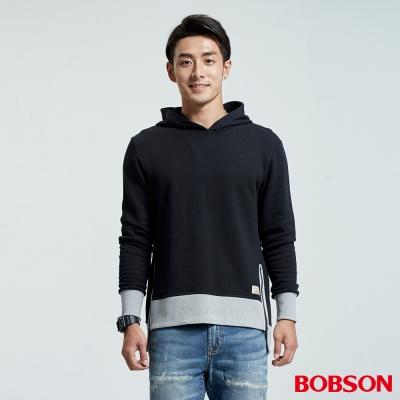 BOBSON  男款新潮拼接造型帽T
