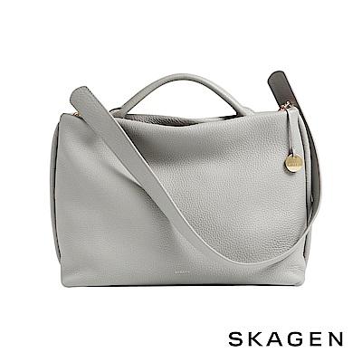 SKAGEN MIKKELINE 真皮側背包/手提包-淺灰色