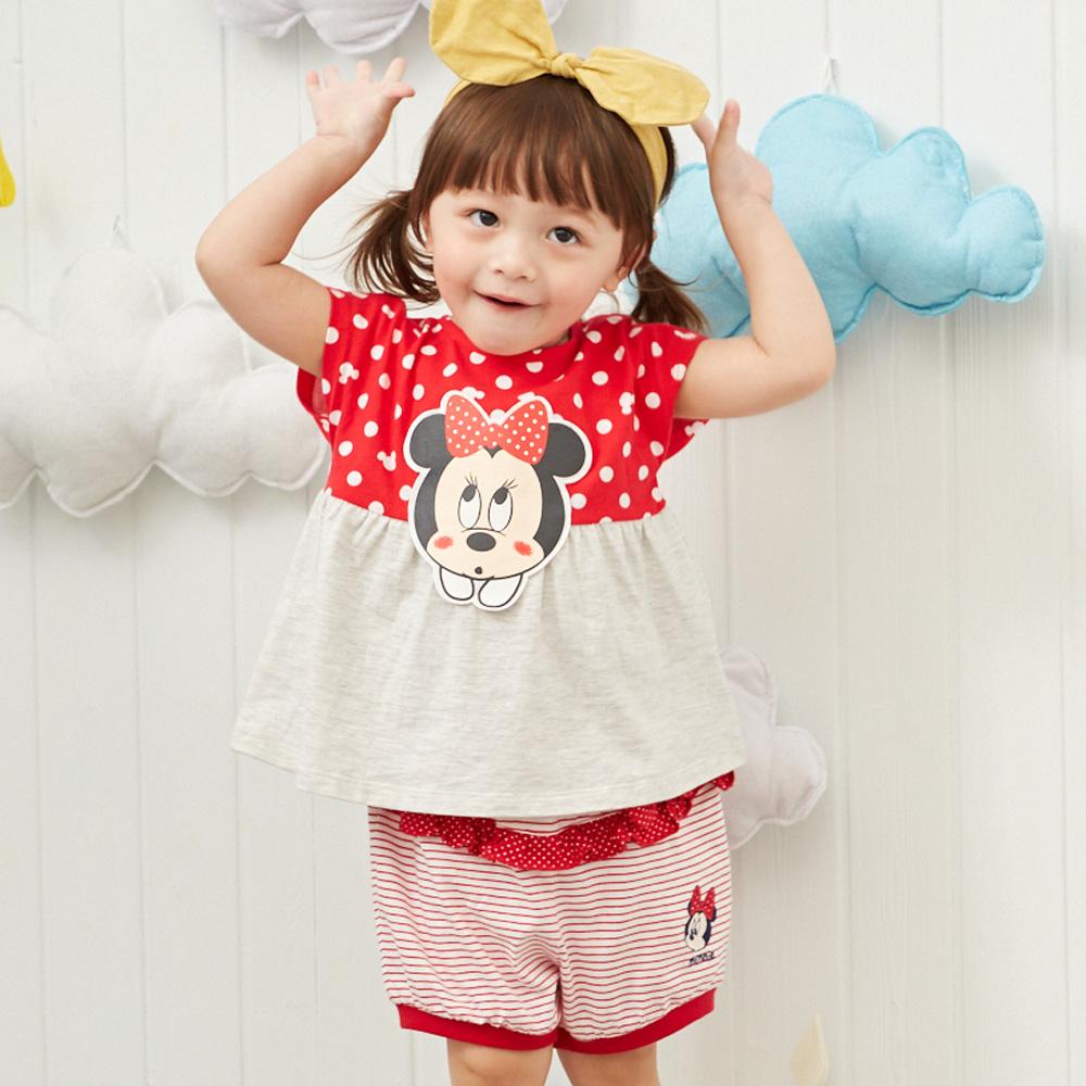 Disney baby米妮系列點點花苞荷葉短褲 (2色可選)