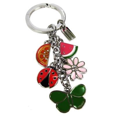 COACH 西瓜蝴蝶瓢蟲串鑰匙圈