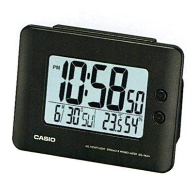 CASIO 全方位溫濕度感應貪睡數位鬧鐘(DQ-982N-1D)-黑色