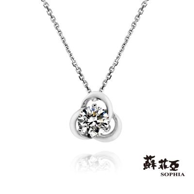 蘇菲亞SOPHIA 鑽石項鍊 - 花戀 0.30克拉ESI鑽鍊