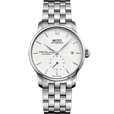 MIDO美度 Baroncelli 2018 百年紀念限量機械錶-銀/38mm