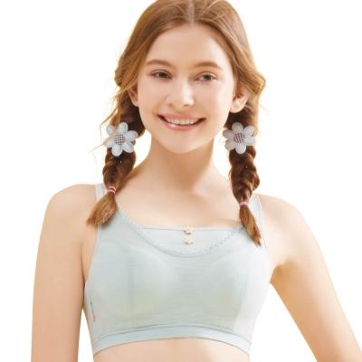 思薇爾 竹蜻蜓輕甜風系列B-E罩軟鋼圈背心式素面包覆內衣(羽絨藍)