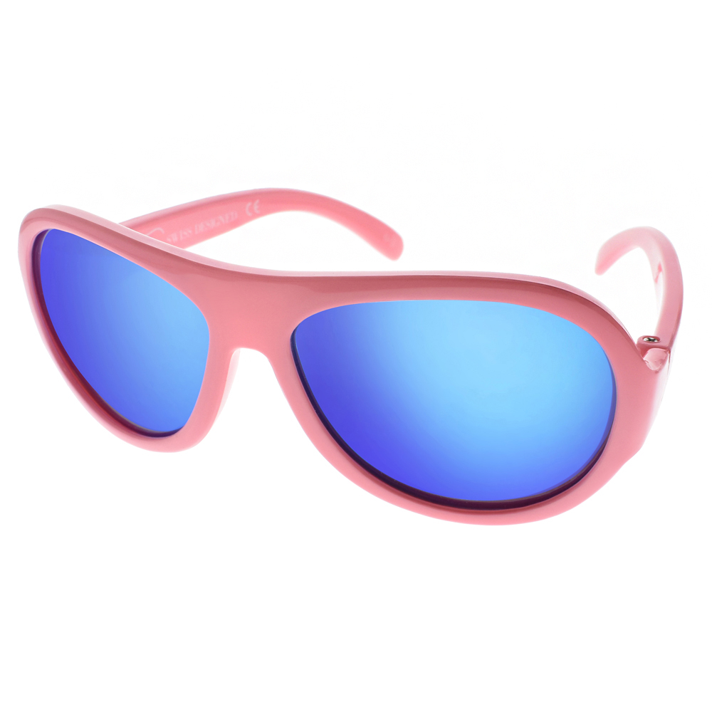 SHADEZ兒童太陽眼鏡 無毒可彎曲/小鳥粉-藍水銀#SH15SHZ0 C47
