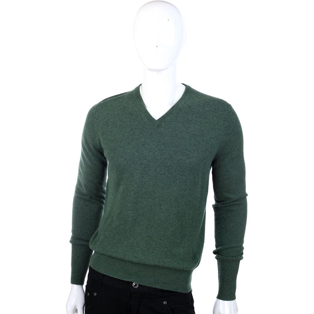 BALLANTYNE 綠色V領針織長袖上衣(100%CASHMERE)